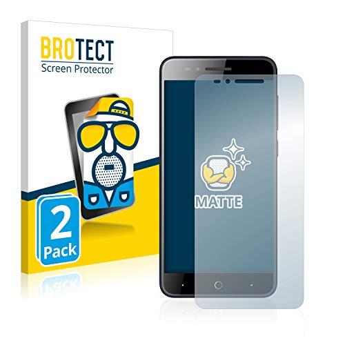 BROTECT 2X Entspiegelungs-Schutzfolie kompatibel mit ZTE Blade A612 Bildschirmschutz-Folie Matt, Anti-Reflex, Anti-Fingerprint