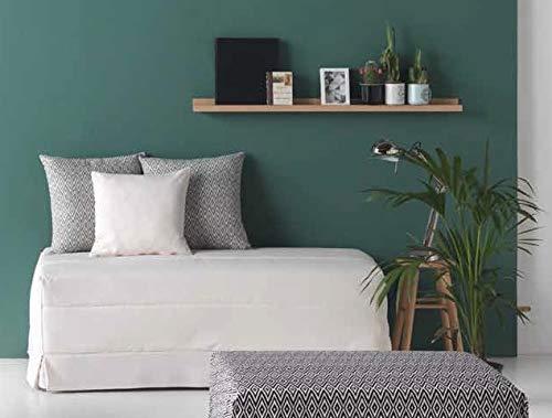 Quality Mobles - Cama Plegable Individual de 135x190 cm Funda Color Beige