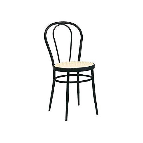 4Stück Stühle Stuhl Thonet Metall schwarz Sitzfläche Stroh Wiener Küche Esszimmer