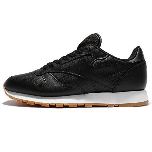 Reebok Classic Leather Hombre Zapatillas Negro