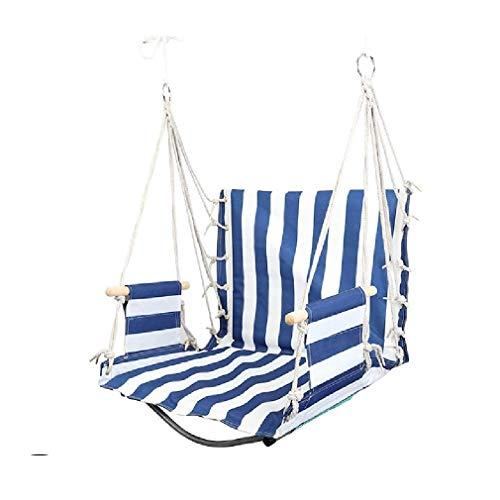 XZJJZ Cojines para sillas de Hamaca y reposabrazos de Madera, sillas Colgantes relajantes para Interior/Exterior/Patio/Porche