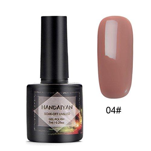 YUYOUG 7ml Mode Vernis à Ongles Nail Art Nude Gel Nail Gel - Femmes - Filles (D)