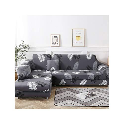 HGblossom L Shaped (Need 2Pcs) Sofabezüge Spandex Für Wohnzimmer Stretch Material Ecksofa Stuhlbezug Couchbezug Schnittsofa Farbe 18 3 Sitzer Und 3 Sitzer