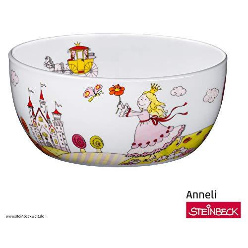 WMF Prinzessin Anneli Kindergeschirr Kinder-Müslischale, Ø 13,8 cm, Porzellan, spülmaschinengeeignet, farb- und lebensmittelecht