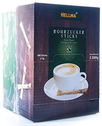 Hellma 60107615 Rohrzucker-Sticks FAIRTRADE