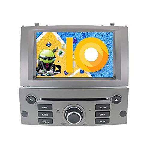 ZWNAV - Reproductor de DVD estéreo Radio de Coche para Peugeot 407 2004-2010, con Pantalla HD 1080P de 7 Pulgadas, con tecnología Android 10.0, GPS, Radio, Bluetooth, WiFi y OBD