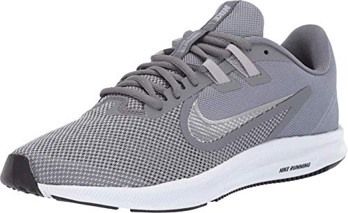 Nike Womens Downshifter 9 Running Shoes (Cool Grey/Metallic Silver, Numeric_8_Point_5)