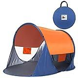Leader Accessories ワンタッチ テント ポップアップ テント UVカット サンシェード テント アウトドア キャンプ テント 防水