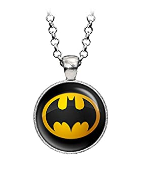 Wearable Treasures Batman Necklace Suicide Squad Justice League Necklace Superman Earrings The Dark Knight Pendant DC Comics Jewelry Wedding Party Geek Gift Geeky Gifts Nerd Nerdy Presents