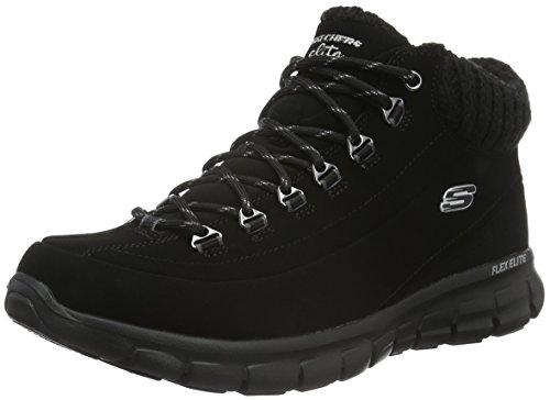 Skechers Synergy-Winter Nights, Botas Mujer, Negro (Black), 39 EU
