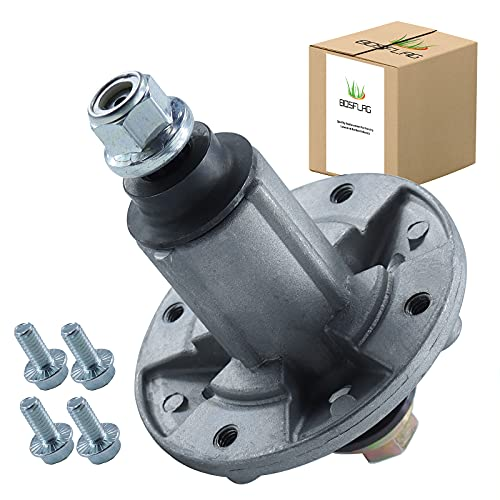 """BOSFLAG GY21098 Spindle Assembly with Thread Hole and Screws for John Deere 42"""" 48"""" LA100 LA165 X110 X120 Decks Replaces GY20454 GY20867 GY20962,Oregon 82-359"""
