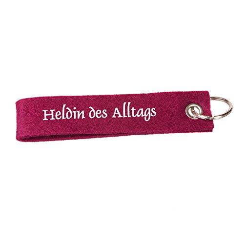 Filz-Schlüsselband Heldin des Alltags, fliederfarben - toller Schlüsselanhänger
