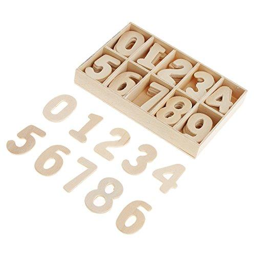 Harilla 60x Holznummern Bastelnummern...
