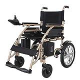 AFDK Scooter eléctrico para silla de ruedas de servicio pesado, silla de ruedas eléctrica plegable 200W * 2 Ancho del asiento del motor doble 45Cm Palanca de mando de 360 ° Adaptarse a una variedad