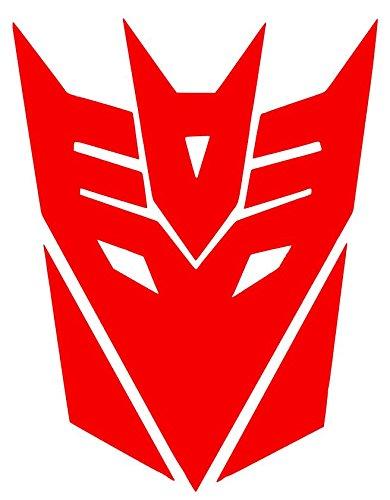 Decepticon inspired Transformer Symbol Sticker Decal Vinyl (6''x4'', Red)