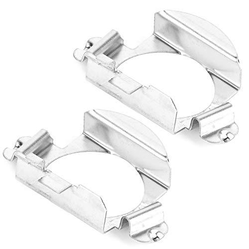 Duokon H7 LED Adapter, Paar H7 LED Scheinwerferlampen Adapter Halter für Silber
