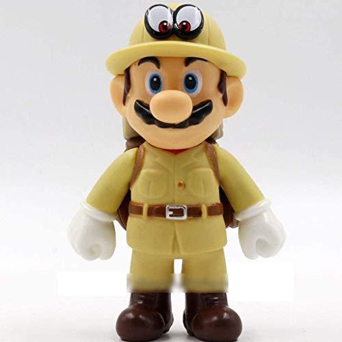 Cylficl. Super Mario Figura!Mario Ornamento de la Figura de acción (Aventurero) Modelo de la estatuilla/PVC Figurita Hogar y decoración Oficina / 12cm Ilustraciones Dormitorio