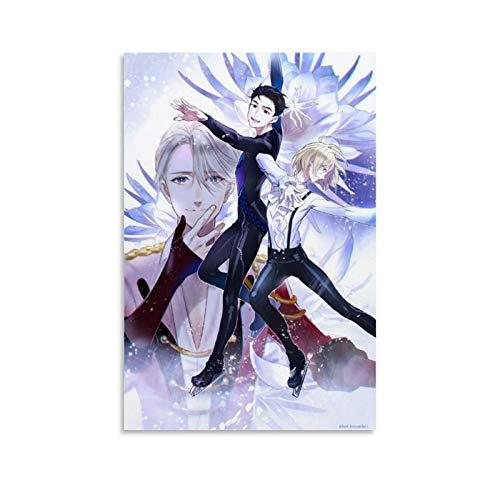 EWRW 13 Yuri On Ice Poster sur toile pour décoration murale de salle de bain 30 x 45 cm