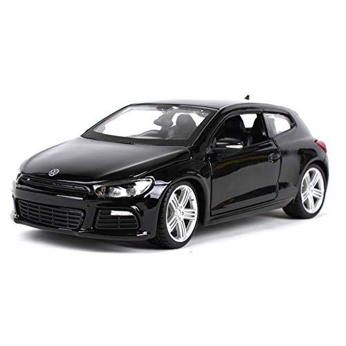 Volkswagen Scirocco Simulation Legierung Automodell,Schwarz 3. Generation Typ 13 Ab 2008 1/24 Modell Auto mit Individiuellem Wunschkennzeichen,Modellauto Aus Druckguss,Fertigmodell,Miniaturmodell