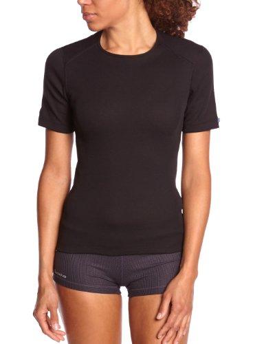 Odlo Damen Shirt Short Sleeve Crew Neck Warm, Black, L, 152031