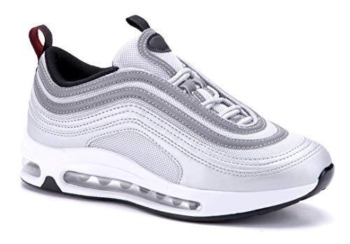 Schuhtempel24 Damen Schuhe Low Sneaker Silber flach