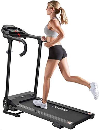 Laufband Elektrisch Klappbar, Laufband 10 km/h, Laufband Für Zuhause Klappbar und LCD-Display, 12 Trainingsprogrammen, MAX 100kg, Manuell 3 Ebenen Kippen, Größe des Laufbereichs, 95 x 34 cm