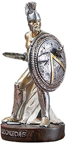 JJDSN Statua del Guerriero Spartano Romano Statuetta del Cavaliere di Sparta Statuetta di Spartacus Scultura Modello di Armatura Miniature Modern Home Decor Soggiorno Decorazione dell'ufficio Orna