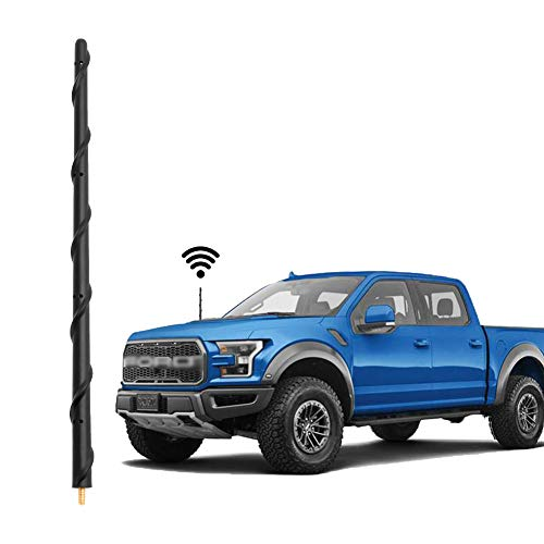 KSaAuto Antenna fits for Ford F150 2009-2020, 13 Inch Spiral Rubber Car Wash Proof Antenna...