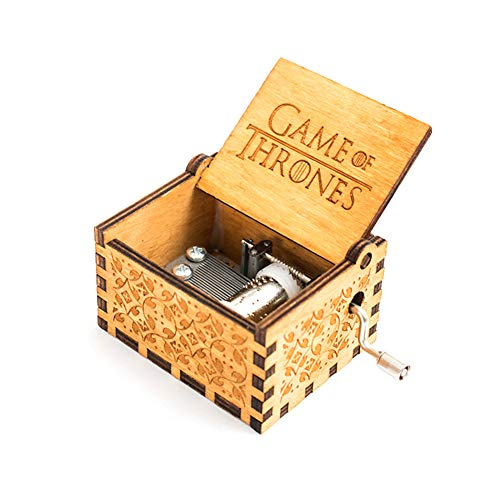 mallalah Pure hand-classical Game of Thrones Music Box hand-wooden Music Box Creative Wooden, Best Gifts