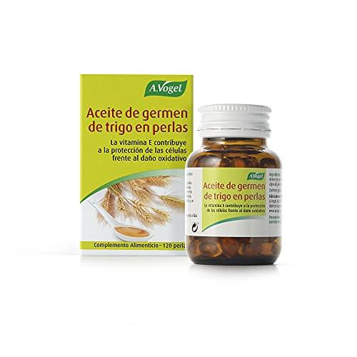 Aceite de germen de trigo | Aceite puro 100% sin refinar en perlas. Alto contenido en vitamina E - Antioxidante | 120 Perlas | A.Vogel