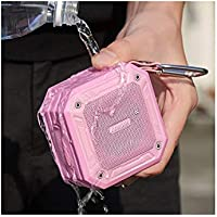 ARISEN IP67 Super-Waterproof Ultra-Portable Bluetooth Speaker (Flamingo Pink)