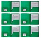 Plastic Pocket Folders, Colored Heavy Duty...