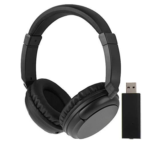Dmtrab Auriculares de música inalámbrica KST-900ST 2.4GHz con Volumen de Control, Soporte Radio FM/AUX / MP3 (Negro) Auricular