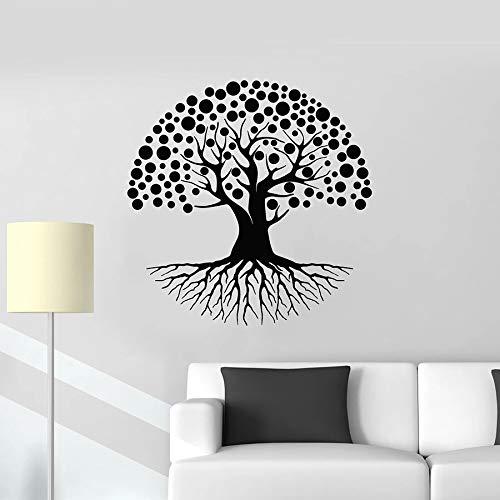 Calcomanía de vinilo para pared rama de árbol raíz bosque natural sala de estar dormitorio decoración de interiores pegatina de vidrio sala de meditación arte mural