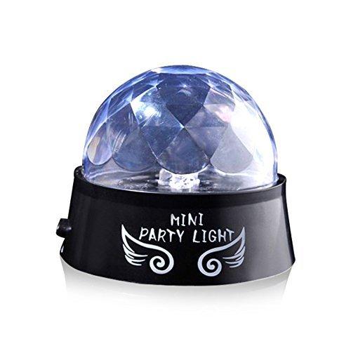 Unicoco mini Stage Lights, Ejboth Magic Ball lampada RGB LED fase effetto luce parte rotante sfera di cristallo suono attivato + telecomando lampadina atmosfera per discoteca KTV