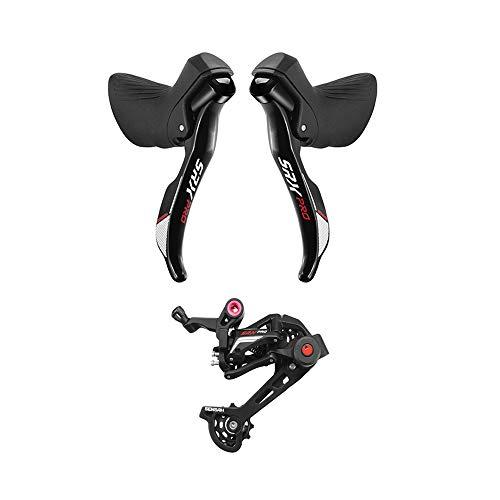 SENSAH SRX Pro Cyclocross Rennrad-Schalthebel, doppelte 1 × 11 Gänge, Kies, Rennrad, Hebel Bremse Fahrrad Umwerfer