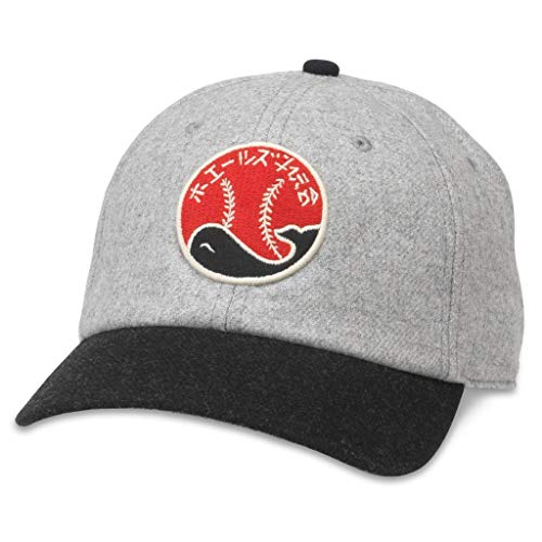 AMERICAN NEEDLE Archive Legend Taiyo Whales Nippon Professional Baseball League Adjustable Bucklestrap Dad Hat (21005A-TAW-HGBL)