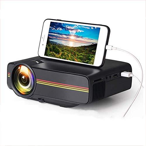 TongBao Il Mini proiettore Portatile, videoproiettore 1080P LED HD Proiettore per proiettore Home Office Proiettore del teatro Domestico YG410 LCD Portatili 1200 Lumen