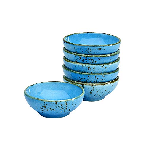 Creatable, 6-er Sojaschale 8 cm, Nature Collection, BLUE 22088, Steinzeug