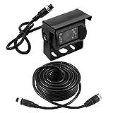 KSTE Cable Camara Trasera, 24LED de visión Trasera cámara de Reserva del estacionamiento de la visión Nocturna Que invierte la cámara + Cable de 10m