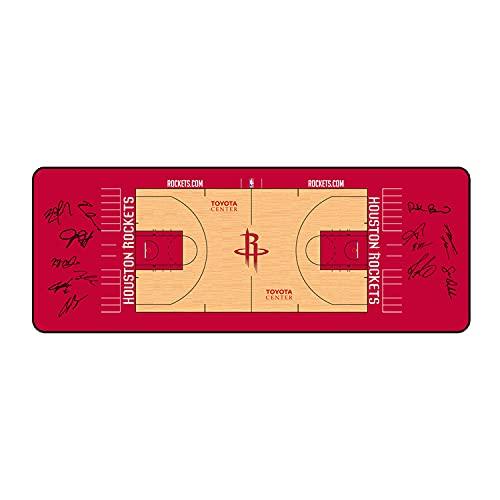 NBA Mouse Pad XL XXL XXXL,Alfombrilla Raton Gaming Grande, Mouse Pad Impermeable con Base Antideslizante y Borde Cosido para el Hogar, Oficina, PC, Portátil 800x300x3mm