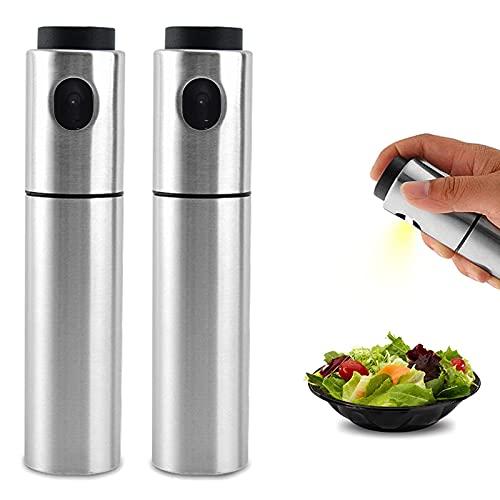 ZWWZ Corcho de vinagre portátil para Asar ensaladas,freír,Asar a la Parrilla,cocinar en la Cocina,rociador Botella de Aceite en Aerosol de Acero Inoxidable