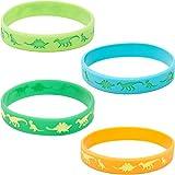 Blue Panda Dinosaur Silicone Bracelet 24-Pack Kids Rubber Wristbands