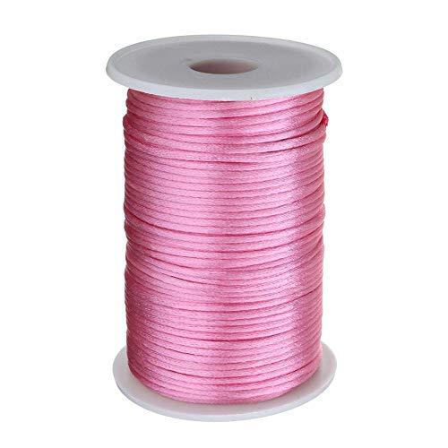 100 Yards/PC 2mm gevlochten nylon koord DIY armband knoop ketting gevlochten roze