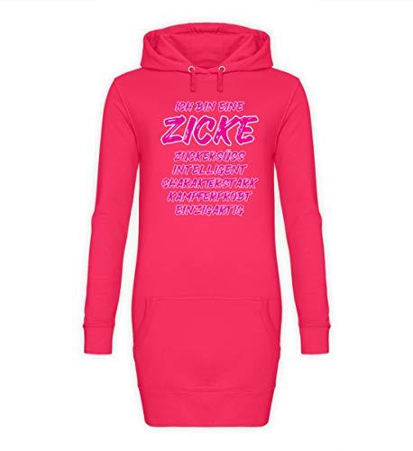 ALBASPIRIT Zicke Definition Zickig Lustiger Spruch Frauenpower Emanzipation Zickenshirt Geschenk - Damen Hoodie-Kleid -S-Hot Pink