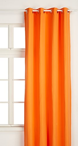 Today Rideau Isolant 140/240 Mandarine, Polyester, 140x240 cm