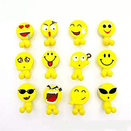 YIQI Porte-Brosse à Dents pour Enfants avec Ventouse pour Salle de Bain Murale 5 Set (Emoji aléatoire)