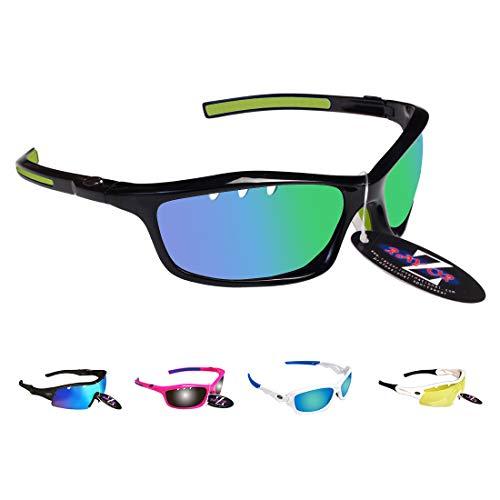 RayZor - Occhiali da sole leggeri con montatura infrangibile, protezione UV400, lenti anti-riflesso Cat 3, per tiro con l'arco, pesca, vela, escursionismo, caccia