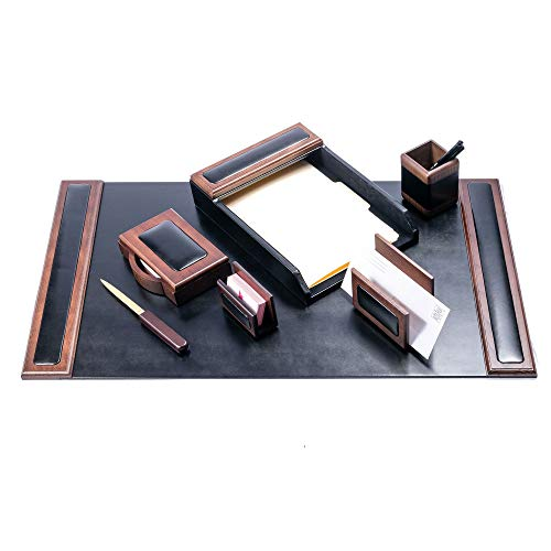 Dacasso Wood & Leather Desk Set,...