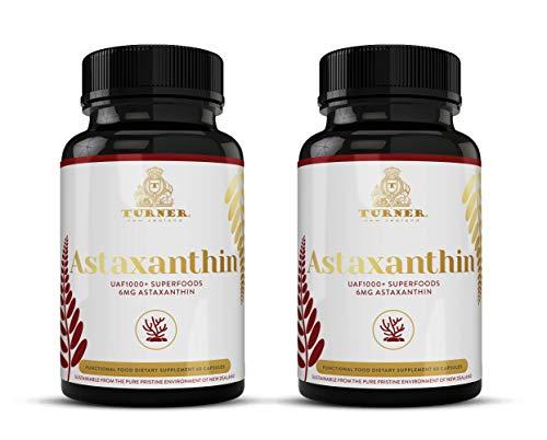 TURNER ASTA Astaxanthin, 6mg Astaxanthin Supplement, 2 Pack, 120 Count